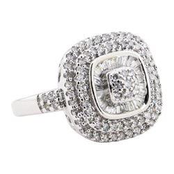 1.00 ctw Diamond Ring - 10KT White Gold