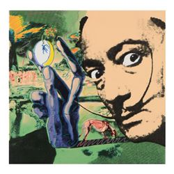 Dali Homage by Steve Kaufman (1960-2010)