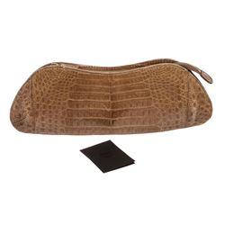 MCM Beige Crocodile Evening Clutch Bag
