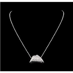 14KT White Gold 2.56 ctw Diamond Pendant With Chain
