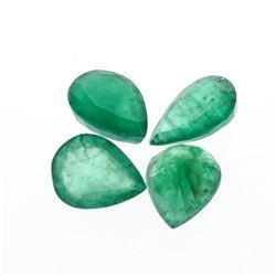 5.59 cts. Pear Cut Natural Emerald Parcel