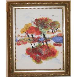 As the World Turns original LangdonArt painting - Le Monde Tourne peinture originale par LangdonArt