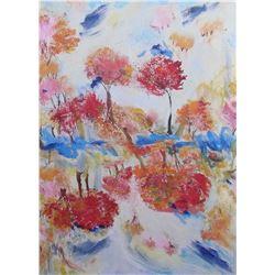peinture Langdonart Arbres comme Fleurs d'Automne - LangdonArt painting Trees as Fall Flowers
