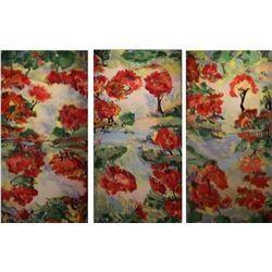 Triosepare, an LangdonArt trio of paintings for different 27 scenes - scènes différentes par Langdon