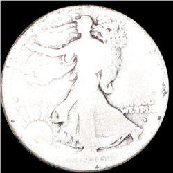 1916-D Walking Half Dollar NICELY CIRCULATED