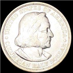 1893 Columbian Expo Half Dollar NEARLY UNC
