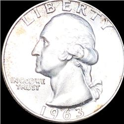 1963-D Washington Quarter CLOSELY UNCIRCULATED