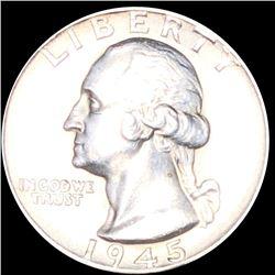 1945-S Washington Silver Quarter UNCIRCULATED