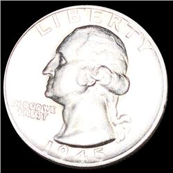 1945-S Washington Quarter CLOSELY UNCIRCULATED