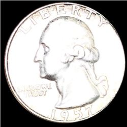 1957-D Washington Quarter CLOSELY UNCIRCULATED