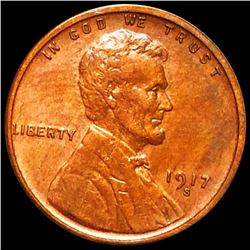 1917-S Lincoln Wheat Penny CLOSELY UNCIRCULATED