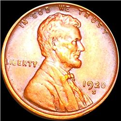 1920-S Lincoln Wheat Penny CLOSELY UNCIRCULATED