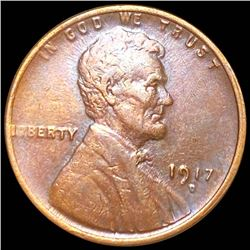 1917-D Lincoln Wheat Penny ABOUT UNCIRCULATED