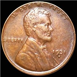 1931-D Lincoln Wheat Penny ABOUT UNCIRCULATED