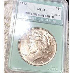 1922 Silver Peace Dollar NTC - MS65