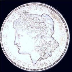 1921-D Morgan Silver Dollar NEARLY UNCIRCULATED