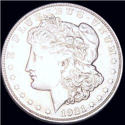 1921-S Morgan Silver Dollar NEARLY UNCIRCULATED