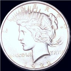 1922-D Silver Peace Dollar GEM BU