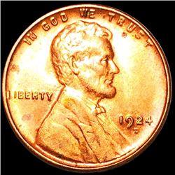 1924-D Lincoln Wheat Penny GEM BU