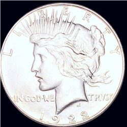 1922-S Silver Peace Dollar ABOUT UNCIRCULATED