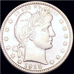 1915-S Barber Silver Quarter NEARLY UNCIRCULATED