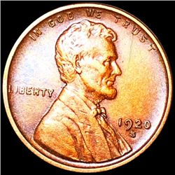 1920-S Lincoln Wheat Penny ABOUT UNCIRCULATED