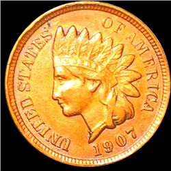 1907 Indian Head Penny NEARLY UNCIRCULATED