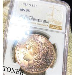 1882-S Morgan Silver Dollar NGC - MS65