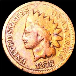 1878 Indian Head Penny NICELY CIRCULATED
