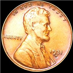 1931-D Lincoln Wheat Penny CLOSELY UNCIRCULATED
