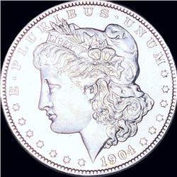 1904 Morgan Silver Dollar ABOUT UNCIRCULATED