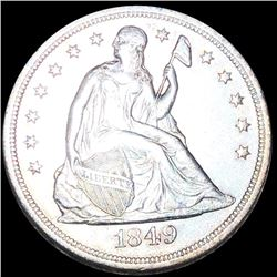 1849 Seated Liberty Dollar CLOSELY UNCIRCULATED