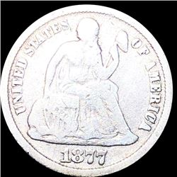 1877-CC Seated Liberty Dime NICELY CIRCULATED