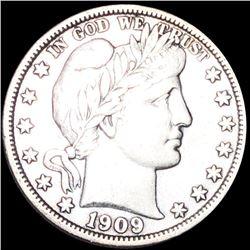 1909 Barber Half Dollar XF+