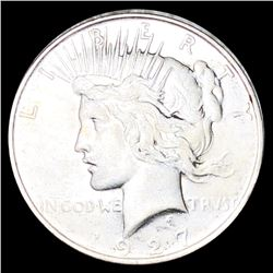 1927-D Silver Peace Dollar ABOUT UNCIRCULATED