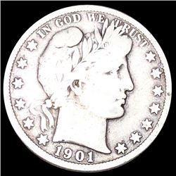 1901-S Barber Half Dollar NICELY CIRCULATED