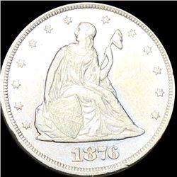 1876 Seated Twenty Cent Piece NEAR UNC