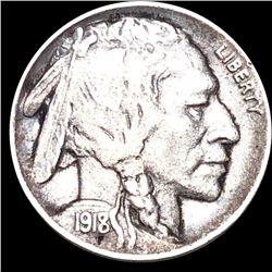 1918/7-D Buffalo Head Nickel LIGHTLY CIRCULATED
