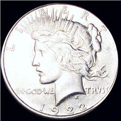 1922-D Silver Peace Dollar UNCIRCULATED