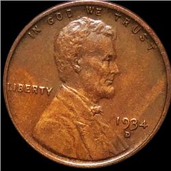 1934-D Lincoln Wheat Penny CLOSELY UNCIRCULATED