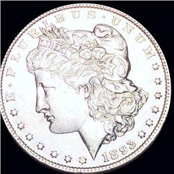 1893 Morgan Silver Dollar CLOSELY UNCIRCULATED