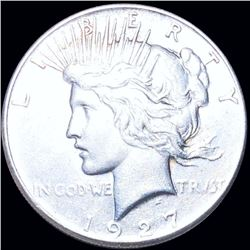 1927 Silver Peace Dollar CLOSELY UNCIRCULATED