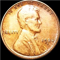 1924-S Lincoln Wheat Penny ABOUT UNCIRCULATED