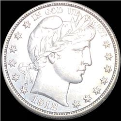 1912 Barber Half Dollar CLOSELY UNCIRCULATED