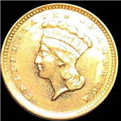 1857-C Rare Gold Dollar CLOSELY UNCIRCULATED