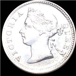1901 Straits Settlement 5 Cents CLOSE UNC