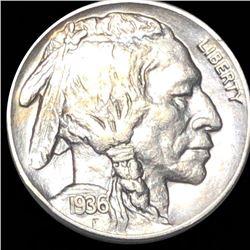 1936-S Buffalo Head Nickel ABOUT UNCIRCULATED