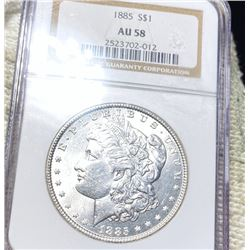 1885 Morgan Silver Dollar NGC - AU58
