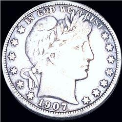 1907-O Barber Half Dollar NICELY CIRCULATED