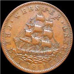 1837 Van Buren Hard Times Token ABOUT UNC